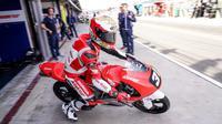 Pembalap AHRT, Gerry Salim, akan beraksi pada ajang Moto3 CEV Junior World Championship di Sirkuit Le Mans, Prancis, Sabtu-Minggu (19-20/5/2018). (AHRT)