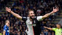 Gonzalo Higuain mencetak gol kemenangan Juventus atas Inter Milan di Stadion Giuseppe Meazza pada laga pekan ketujuh Serie A 2019-2020 (Foto: Doc Juventus)