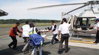 Bandara Soekarno-Hatta memperkenalkan layanan baru yakni Ambulan terbang yaitu penerbangan untuk evakuasi medis menggunakan helikopter yang dioperasikan oleh Whitesky Aviation. (Dok Angkasa Pura II)