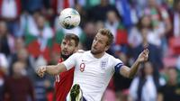 Striker Timnas Inggris, Harry Kane sukses mencetak hattrick di laga melawan Bulgaria pada pentas Kualifikasi Euro 2020. Inggris menang 4-0 (AP Photo/Matt Dunham)