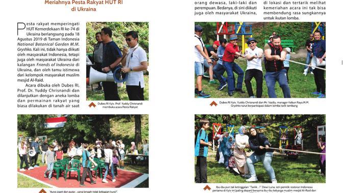 Perayaan HUT RI di Ukraina. Dok: Perjalanan Kerja Tahun Ketiga Dubes RI di Kyiv