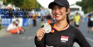 Cerita Dian Sastro Alami Cedera di Berlin Marathon 2018