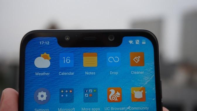 Tampilan Xiaomi Pocophone F1 (liputan6.com/Agustin S. Wardani)