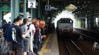 Dari stasiun Gambir bisa ke Pangandaran dengan naik kereta sampai Banjar. (Liputan6.com/Faizal Fanani)