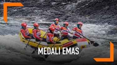 Tim arung jeram putri Indonesia U-23 meraih medali emas dan perak di World Rafting Championship 2019. Tim terdiri dari tujuh remaja putri asal Sukabumi.