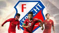 FC Utrecht: Stefano Lilipaly, Bagus Kahfi, Irfan Bachdim (Bola.com/Adreanus Titus)