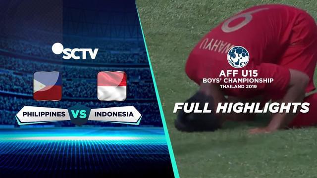 Berita video highlight Piala AFF U-15 2019 antara Filipina melawan Timnas Indonesia yang berakhir dengan skor 0-4, Jumat (2/8/2019).