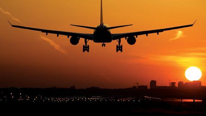 Ilustrasi pesawat yang berada di dekat bendara (AFP Photo)