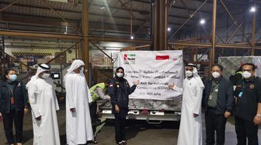 Indonesia menerima dukungan vaksin, oksigen dan alat kesehatan dari Persatuan Emirat Arab (PEA)