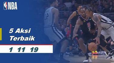 Berita Video 5 Aksi Terbaik 1 November di NBA 2019-2020