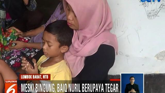 Anak-anak mantan tenaga honorer SMAN 7 Mataram berusia 36 tahun itu juga tidak mengerti situasi apa yang kini dihadapi sang ibunda.
