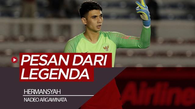 Berita video legenda kiper Timnas Indonesia, Hermansyah, memberi pesan kepada penjaga gawang Timnas Indonesia U-22 untuk SEA Games 2019, Nadeo Argawinata.