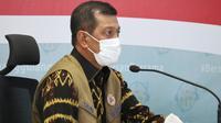 Ketua Satuan Tugas Penanganan COVID-19 Doni Monardo menegaskan meski pemilih rata-rata patuh protokol kesehatan, tahapan Pilkada 2020 belum berakhir saat konferensi pers di Graha BNPB, Jakarta, Rabu (9/12/2020). (Tim Komunikasi Satgas COVID-19)