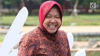 Wali Kota Surabaya Tri Rismaharini saat peluncuran gerakan Jaga Bhumi periode ke-2 di Jakarta, Rabu (21/11). Gerakan ini memiliki slogan 'Kembalikan Kejayaan Alam Indonesia'. (Liputan6.com/Immanuel Antonius)