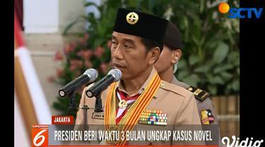 Jokowi meminta kapolri mempercepat penyelidikan dari enam bulan menjadi tiga bulan.