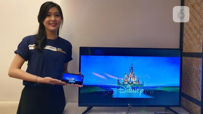Smart TV Akari SmartConnect yang mampu terhubung dengan mudah ke smartphone. (Liputan6.com/ Agustin Setyo W).