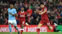 3. Dominic Solanke – kepindahan Solanke dari Liverpool ke Bournemouth penuh dengan tanda tanya. Sebab pemain 18 tahun tersebut hanya mampu mencetak satu gol saat berseragam Liverpool. (AFP/Paul Ellis)