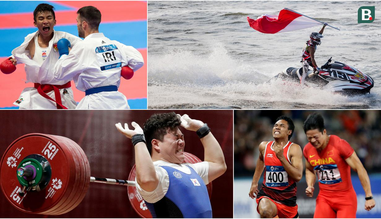 Berikut ini kumpulan momen menarik perhelatan akbar Asian Games sepanjang hari Minggu 26 Agustus 2018. (Foto-foto Bola.com)