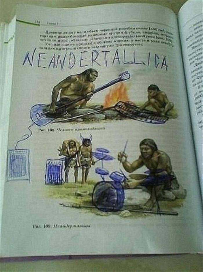 Corat-coret buku dengan mengubah ilustrasi pada gambar. Source: demilked.com