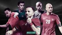 Samsul Arif, Fadil Sausu, Ilija Spasojevic, Greg Nwokolo dan Sergio van Dijk. (Bola.com/Dody Iryawan)