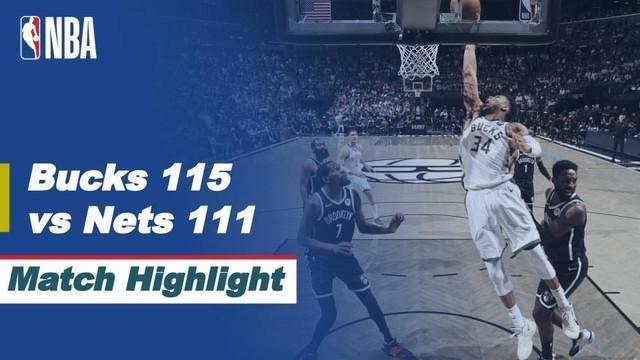 Berita Video, Milwaukee Bucks Kunci Final Wilayah Timur Usai Kalahkan Brooklyn Nets (4-3) pada Minggu (20/6/2021)