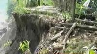 Puluhan rumah di Banyumas rusak akibat tanah bergerak. (Liputan 6 SCTV)