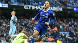 2. Eden Hazard (Chelsea) - 7 Gol (2 Penalti). (AFP/Paul Ellis)