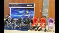 Stroller dan kursi roda menjadi salah satu fasilitas gratis yang diberikan bagi pengunjung GIIAS 2018