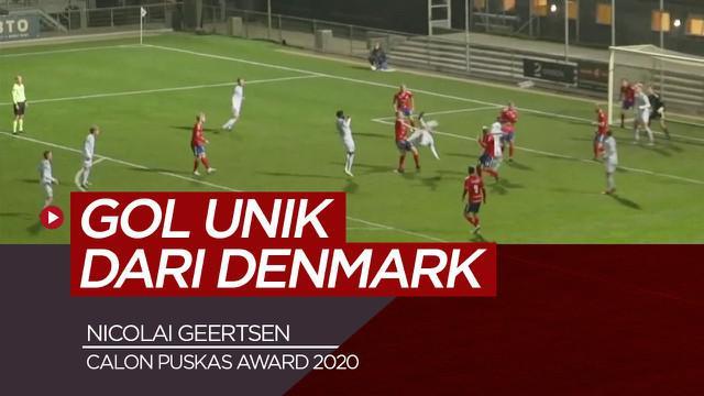 Berita video gol spektakuler dari bek klub Denmark, Nicolai Geertsen, calon kuat Puskas Award 2020