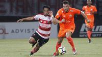 Marko Simic menjadi pahlawan Persija Jakarta ketika meraih kemenangan 1-0 atas Madura United pada laga pekan ke-25 Liga 1 2018. (dok. Persija Jakarta)