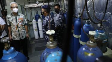 KRI dr Soeharso Siaga Suplai Oksigen untuk Rumah Sakit di Jateng