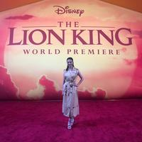 Raline Shah di Premiere The Lion King di Hollywood (FOTO: Istimewa)