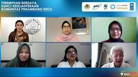 Webinar Perempuan Berdaya, Kunci Kesejahteraan Komunitas Penambang yang   digelar Katadata, Rabu (21/4/2021).