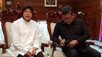 Jelang pengumuman Pasangan Calon Pemilihan Gubernur Jawa Timur 15 Oktober 2017, Sekretaris Jenderal PDIP Hasto Kristyanto bertemu dengan Wali Kota Surabaya Tri Rismarini (Istimewa)