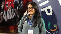 Psikolog Timnas Indonesia U-16, Laksmiari Saraswati Widodo. (Bola.com/Aditya Wany)