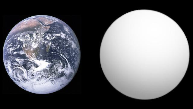 Perbandingan ukuran Bumi dengan Planet GJ 1132b