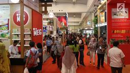 Suasana saat Trade Expo Indonesia 2018 di ICE BSD, Kamis (25/10). Pameran ini dihadiri lebih dari 20.000 pengunjung termasuk para pengusaha dari berbagai negara. (Liputan6.com/Angga Yuniar)