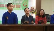 Iriana Jokowi bercerita soal proses kelahiran cucu ketiganya. (Liputan6.com/Fajar Abrori)