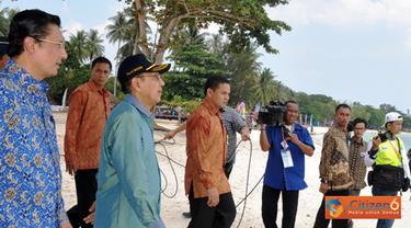 Citizen6, Belitung: Acara Sail Wabe ini bertempat di Tanjung Kelayang, Kabupaten Belitung, Bangka Belitung, Kamis (13/10). (Pengirim: Efrimal Bahri)