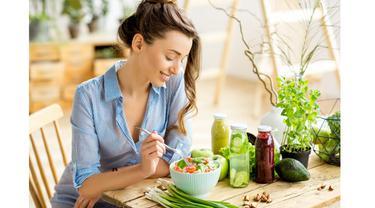 Ilustrasi makan sehat