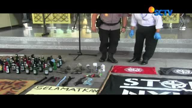 Petugas tetapkan tiga orang tersangka pembakaran pos polisi di Yogyakarta pada demo hari buruh atau may day kemarin