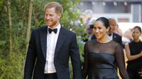 Pangeran Harry dan Meghan Markle hadiri premier film The Lion King di London, Inggris, 14 Juli 2019. (TOLGA AKMEN / AFP)