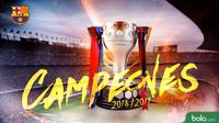 La Liga - FC Barcelona Juara La Liga (Bola.com/Adreanus Titus)