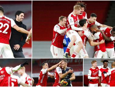 FOTO: Wajah Semringah Skuat Arsenal Usai Kembali Meraih Kemenangan di Liga Inggris