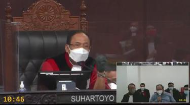 Sidang Status kewarganegaraan Bupati Sabu Raijua terpilih Orient P Riwu Kore di Mahkamah Konstitusi (MK). (Foto Istmewah)