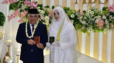 Pernikahan Din Syamsuddin dengan Dr Rashda Diana, cucu pendiri ponpes Gontor pada 3 Januari 2021 (Foto: Dok Istimewa)