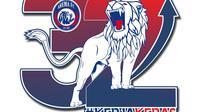 Logo Arema FC 32 Tahun. (Bola.com/Dok Arema FC)