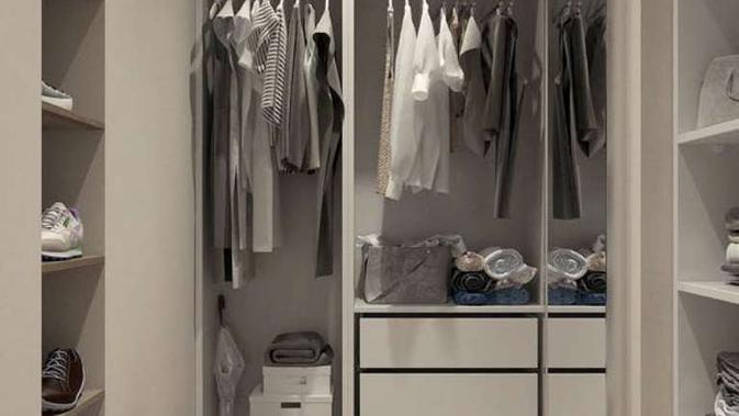 Ilustrasi lemari pakaian. (dok. Pexels.com / Victoria Borodinova / https://www.pexels.com/photo/assorted-clothes-hanged-inside-cabinet-3315286/ / Vriskey Herdiyani)