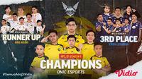 MPL Indonesia Season 8 Telah Usai, ONIC Esports Berhasil keluar Sebagai Juara. (Sumber : dok. vidio.com)