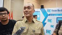 Dirjen Kependudukan dan Pencatatan Sipil Kementerian Dalam Negeri, Zudan Arif Fakrulloh, saat ditemui di kantor Kemkominfo, Selasa (7/11/2017) kemarin. Liputan6.com/ Agustins Setyo Wardani